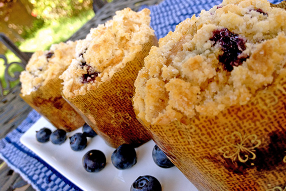 Brown Butter Blueberry Muffins