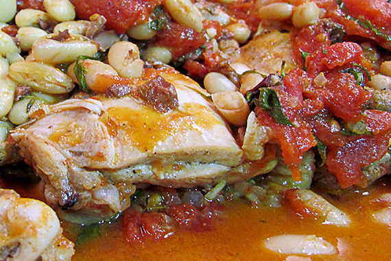 Provencal Chicken with Tomatoes and White Beans