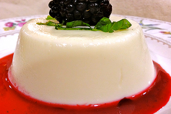 Easy Panna Cotta with Homemade Blackberry Sauce!