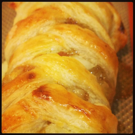 Braided Apple Cream Cheese Danish
