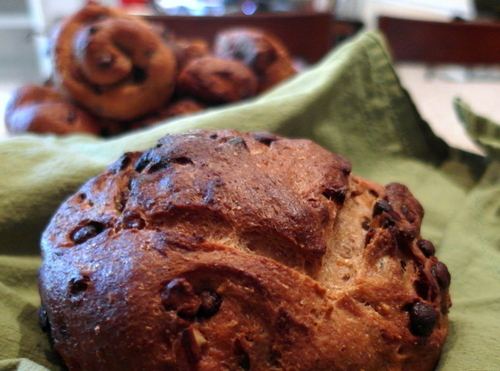 Chocolate Cranberry Pecan Bread