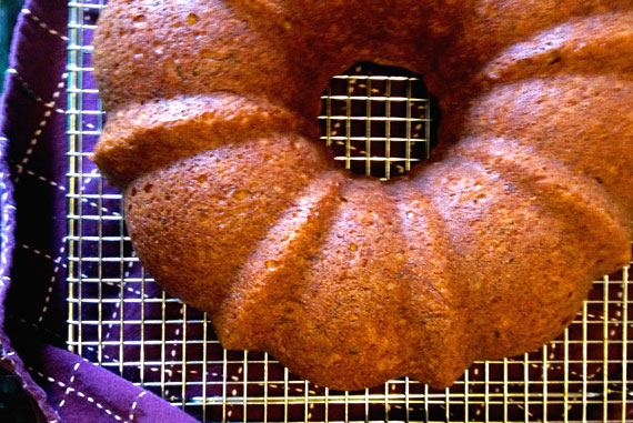 Zucchini Cream Cheese Pound Cake