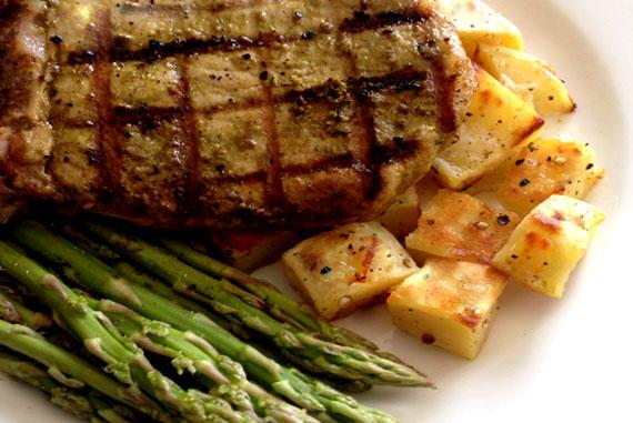 Kale Marinated Pork Chops