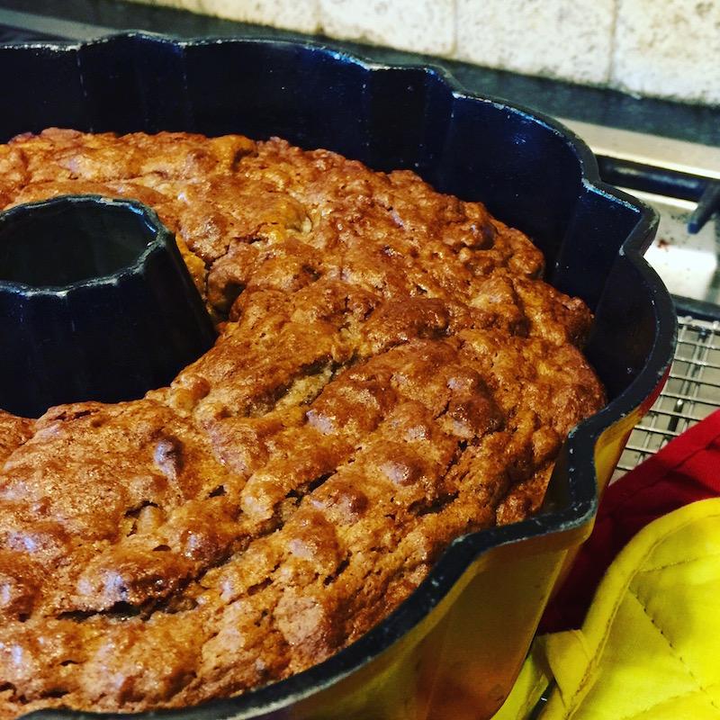 Apple Cider Pound Cake with Brown Butter Apple Cider Glaze