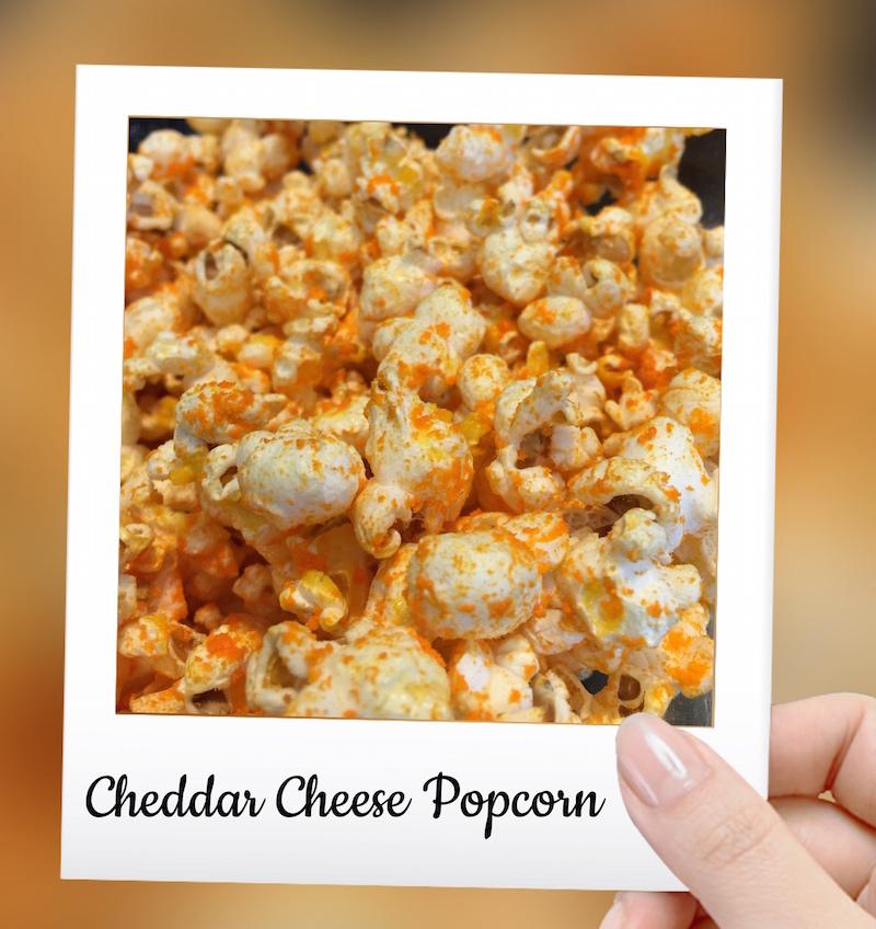 Cheddar Cheese Popcorn!