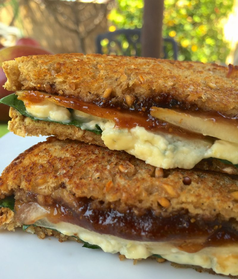Fig, Pear and Gorgonzola Grilled Cheese