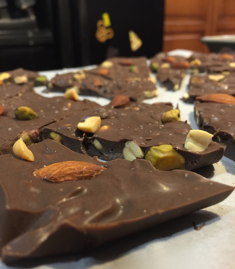 Chocolate Coffee Nut Bark for #SundaySupper