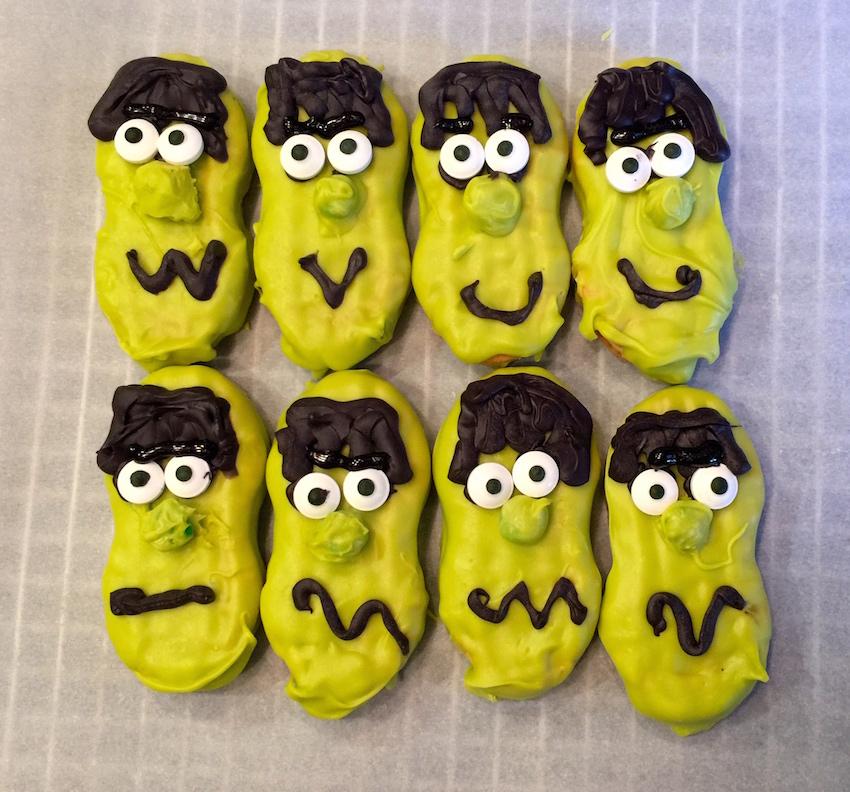 Nutter Butter Frankenstein Cookies