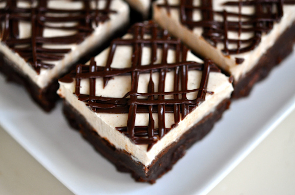 Layered Cappuccino Brownies