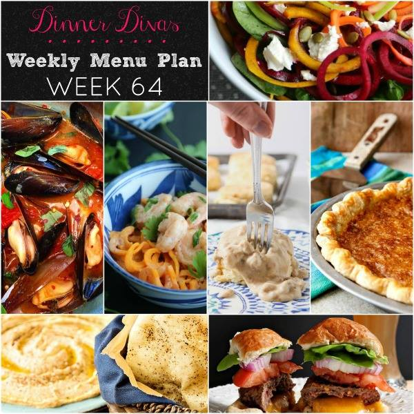 Dinner Divas Weekly Menu Plan: 64