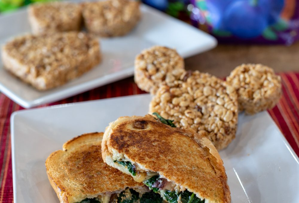 Fig and Spinach Grilled Cheese with Brie