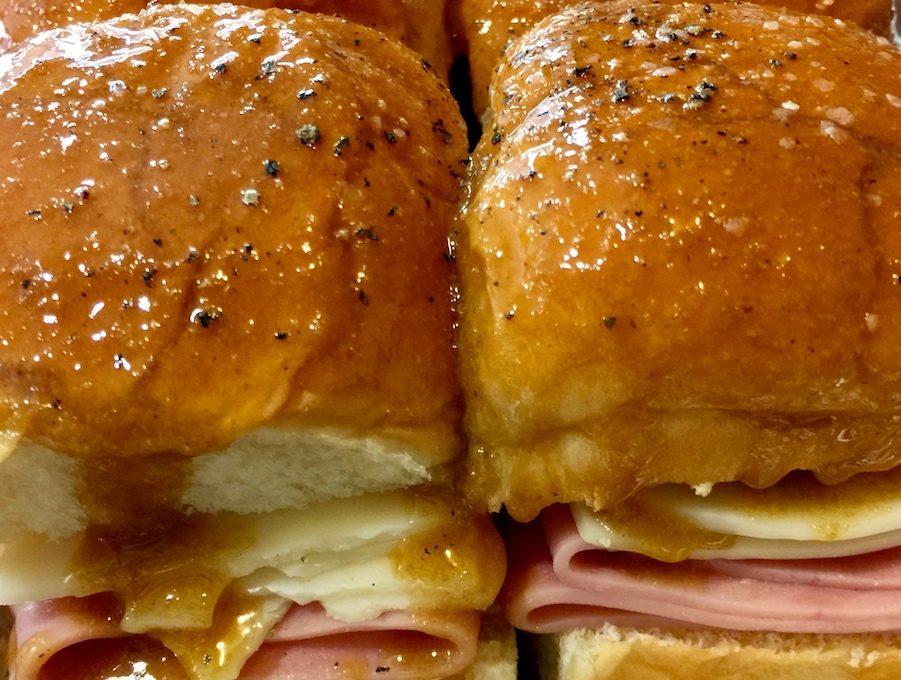 Lucy's Sticky Ham Sandwiches