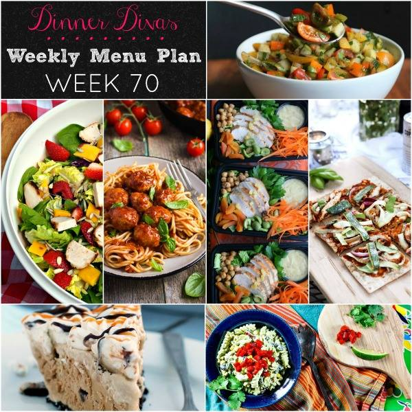 Dinner Divas Weekly Menu Plan: Week 70