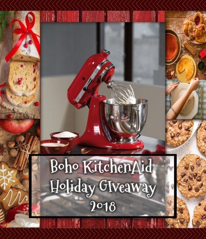 BOHO Holiday KitchenAid Giveaway!