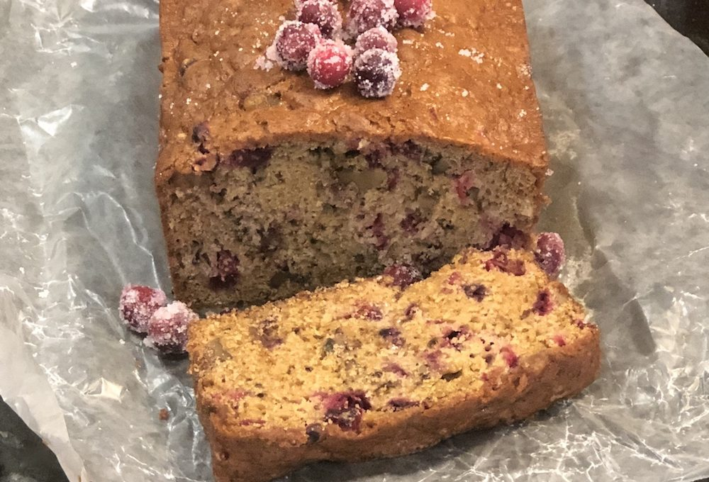Chai Spiced Cranberry Nut Bread