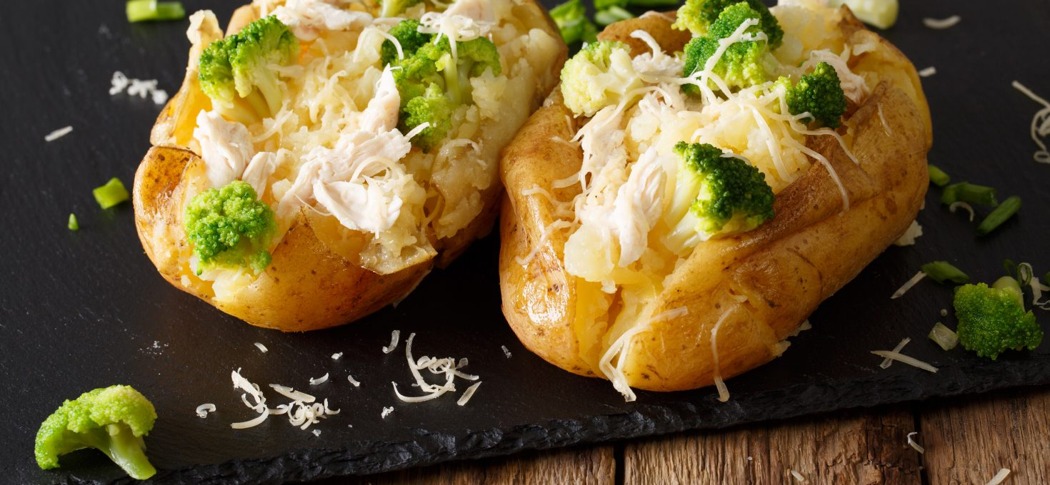 Baked Potato with Broccoli and Chicken