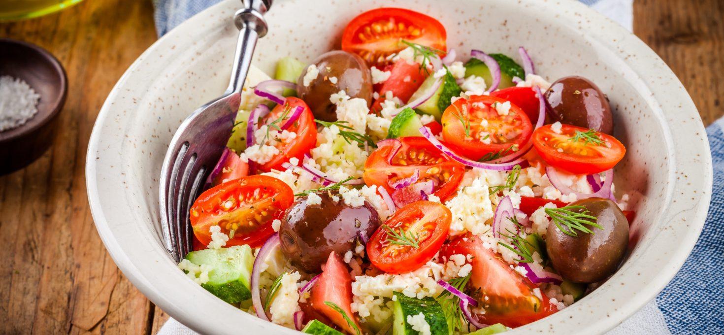 Instant Pot Millet Greek Salad