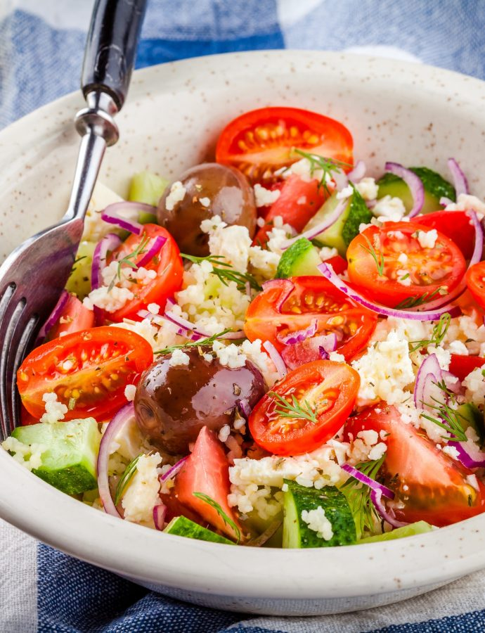 Instant Pot Millet Greek Salad