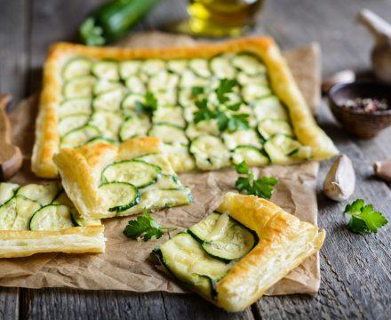 Zucchini Tart with Puff Pastry