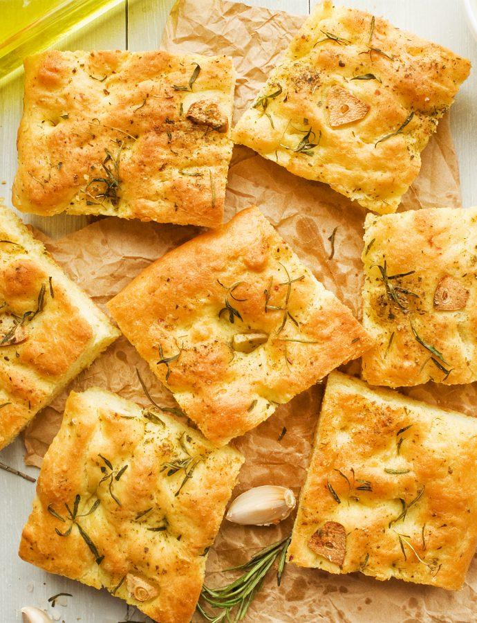 Simple Garlic Focaccia Bread